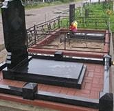 одинарные памятники на кладбище фото №25